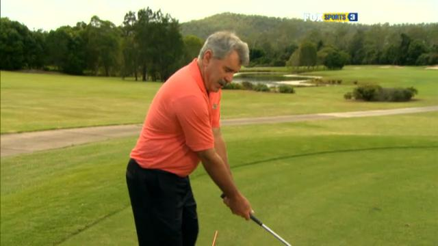 Elbows in a golf swing