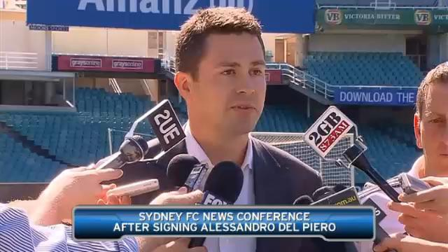 Sydney on Del Piero signing