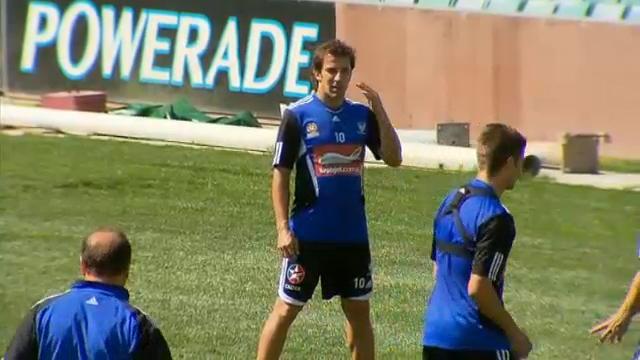 Del Piero trains