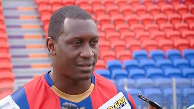 Heskey's first Jets training