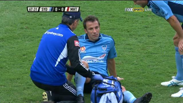 Del Piero out with injury