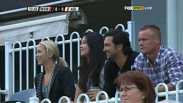 Lleyton, Bec at A-League