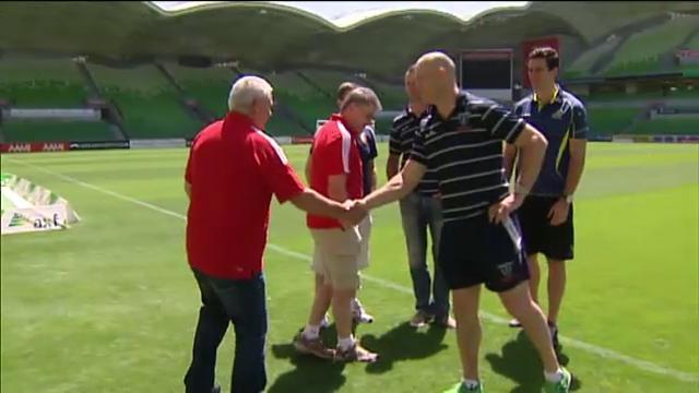 Lions coach visits Australia