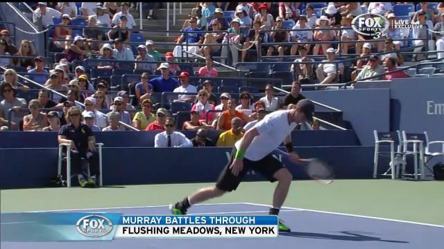 Murray limps through