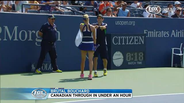 Bouchard breezes through
