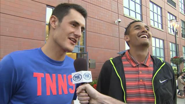 Kyrgios, Tomic talk FIFA