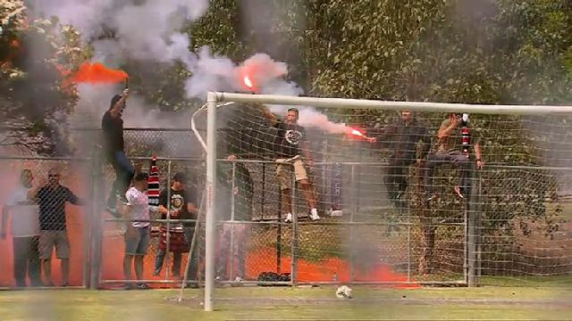 Wanderers fans flare up