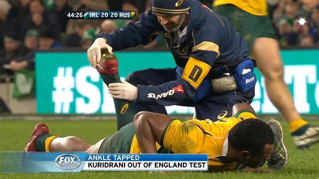 Kuridrani out of England Test