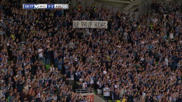 A-League crowd honours Hughes