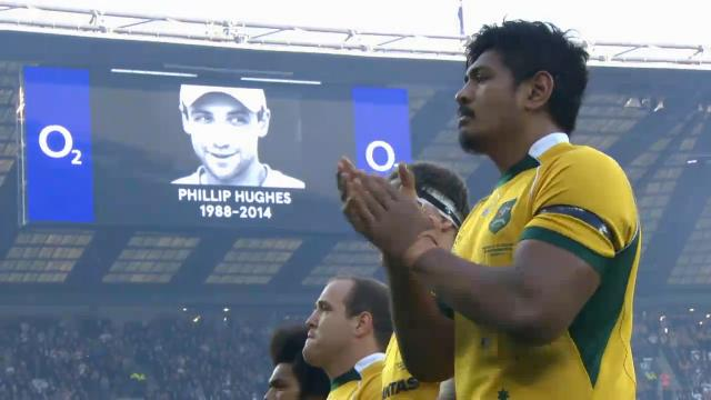 Wallabies honour Hughes