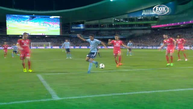 Brosque stuns with back heel