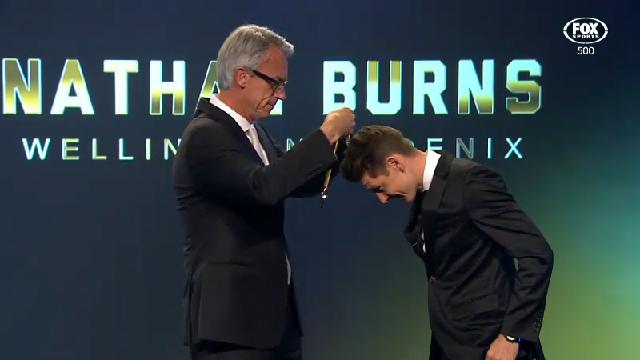Burns wins players' player