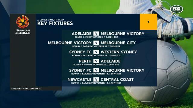 A-League 15/16 draw revealed