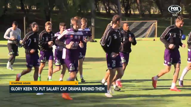 Glory back in training