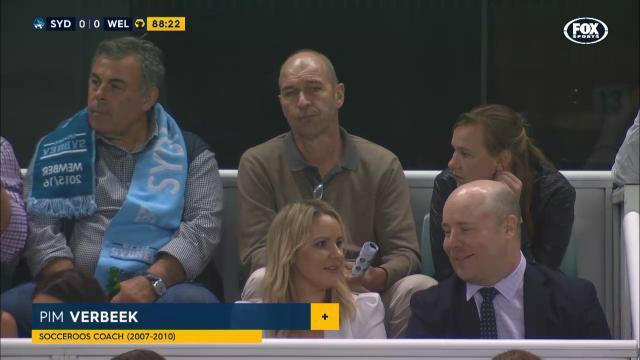 Pim Verbeek watches Sydney FC