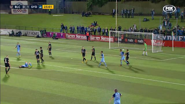 Carney's cracking volley
