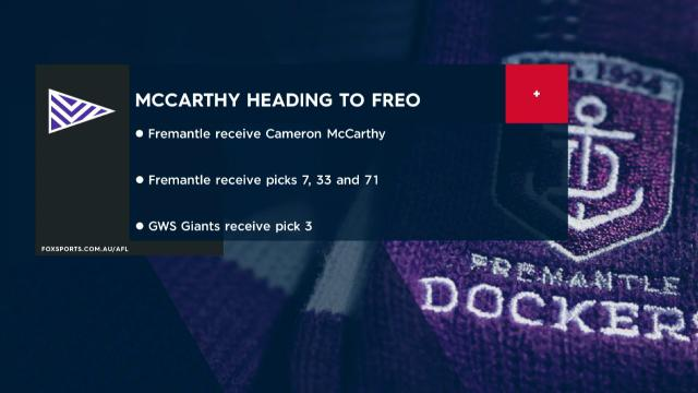 McCarthy completes trade