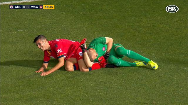 Reds star crashes into keeper