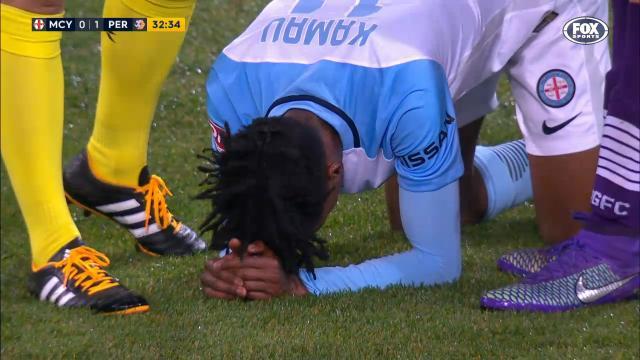Kamau gets taken out