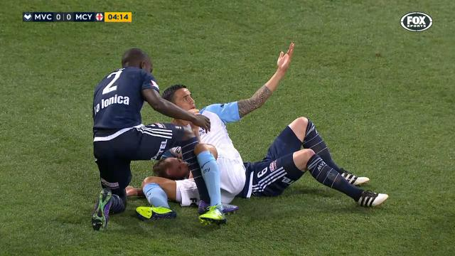Cahill wrestled to the ground