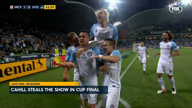 Cahill leads City to Cup win