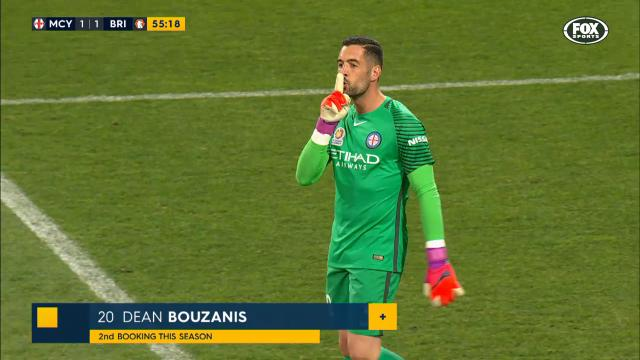 Bouzanis goes over the top