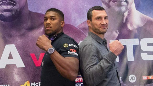 Joshua, Klitschko face off