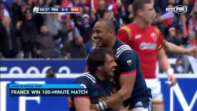 France win 100 minute game