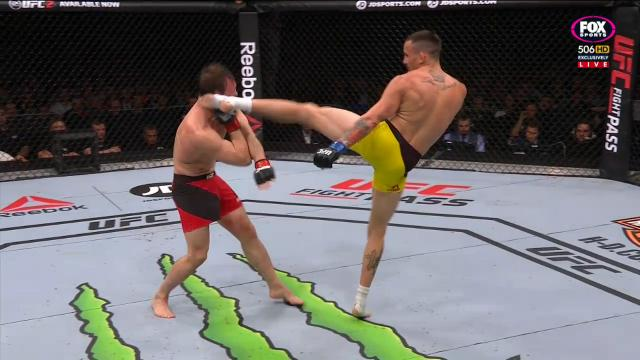 Sick head kick ends Pickett
