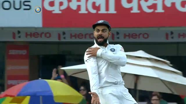 Kohli's pointed celebration