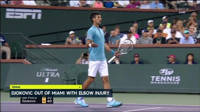 Djokovic out of Miami