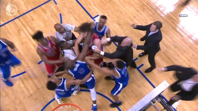 Fists fly, big men ejected