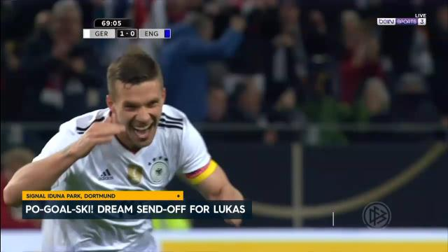 Podolski dream send off