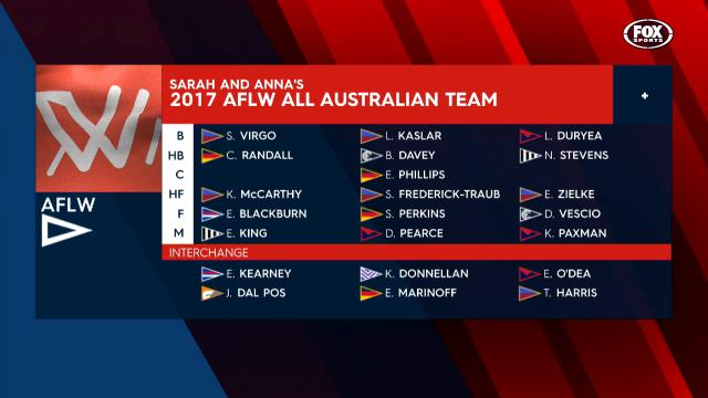 Fox Footy's 2017 AFLW All-Aus
