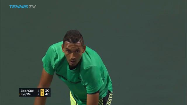 Kyrgios commentates own shot