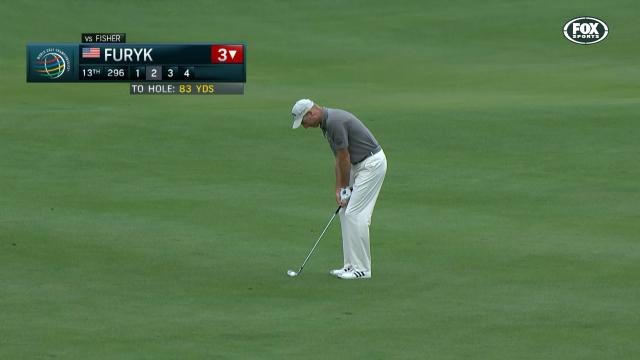 Furyk drains it from 83 yards
