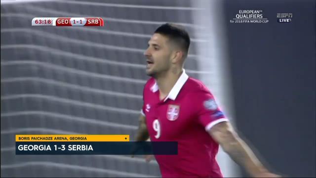 Mitrovic belter lifts Serbia
