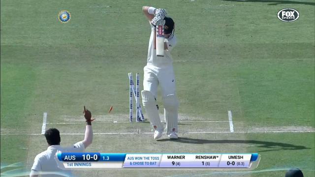 Renshaw bowled for 1