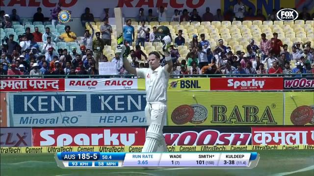 Smith claims 20th Test ton
