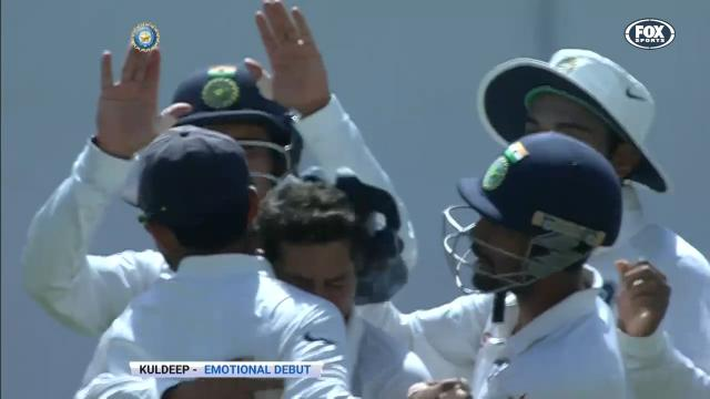 Kuldeep's emotional debut