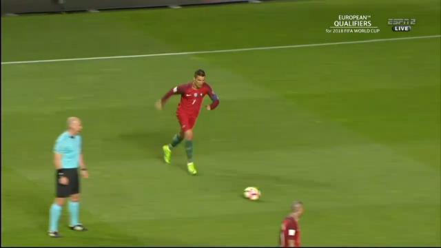Ronaldo's historic free kick