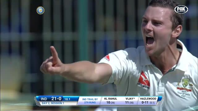 Hazlewood breaks through!