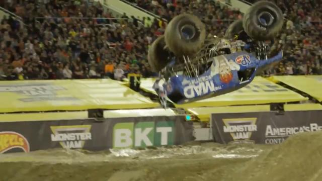First Monster Jam front flip