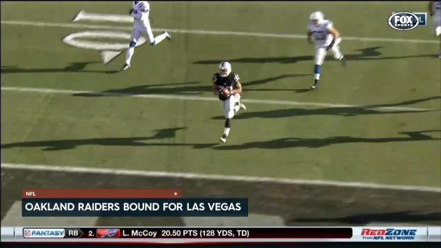Raiders run to Las Vegas