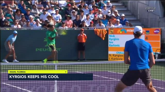 Kyrgios takes down Karlovic