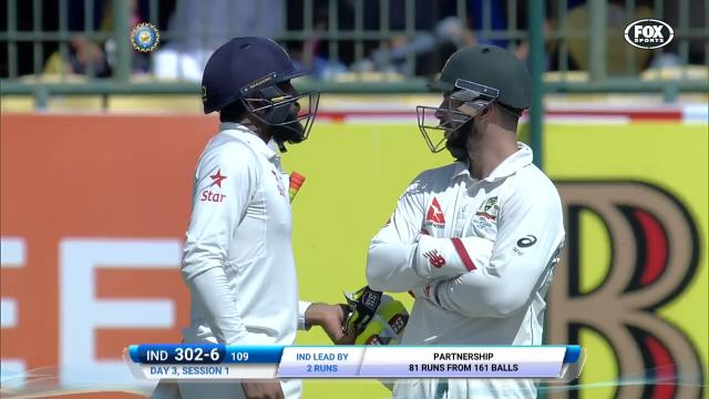 Jadeja's dirty sledge on Wade