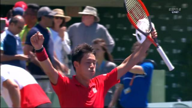 Nishikori come back win