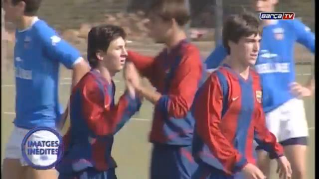 Unseen young Messi footage