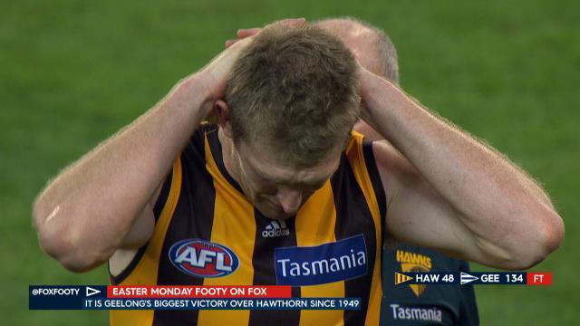 McEvoy in tears after loss