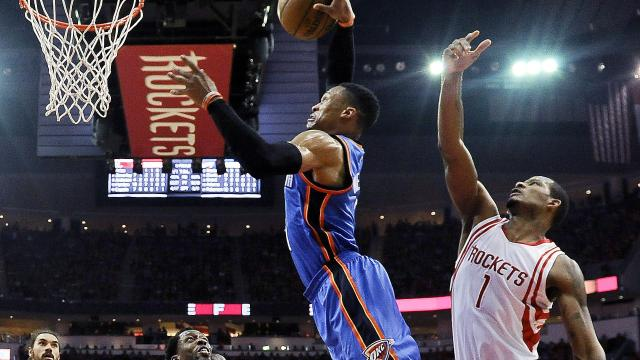 Westbrook fires but OKC fail